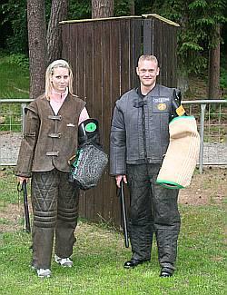 Ina und Janis als Schutzdiensthelfer